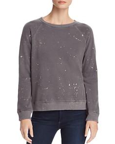 Monrow - Foil Splatter Print Sweatshirt