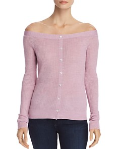 FRAME - Off-the-Shoulder Button Detail Sweater - 100% Exclusive