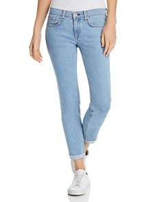 rag & bone/JEAN - Dre Slim Frayed Ankle Boyfriend Jeans in Clean Judi