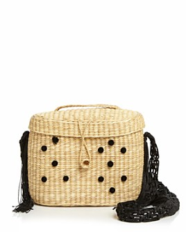 Nannacay - Kiki Macrame Shoulder Bag with Pom Poms
