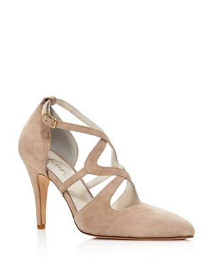 BETTYE MULLER Women'S Gallant Closed Toe Strappy Pumps in Taupe
