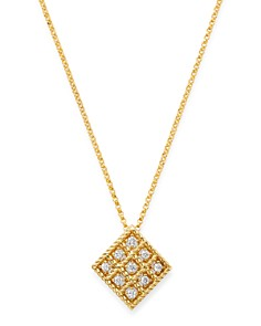 Roberto Coin - 18K Yellow Gold Byzantine Barocco Diamond Pendant Necklace, 16""