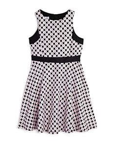 Pippa & Julie - Girls' Geometric Brocade Dress - Big Kid