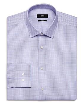BOSS - Grid-Check Slim Fit Dress Shirt