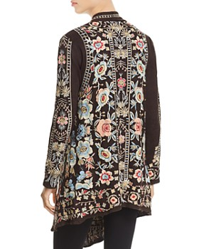 Johnny Was - Nika Embroidered Long Open Cardigan