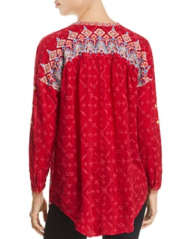 Johnny Was - Gina Tie-Neck Embroidered Top