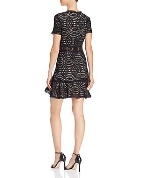 AQUA - Ruffle-Hem Medallion Lace Dress - 100% Exclusive