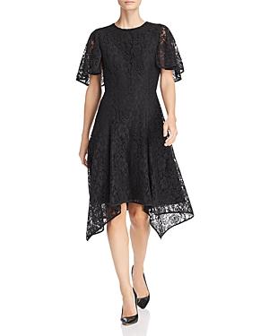 Donna Karan New York Lace Flutter Dress