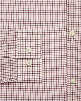 Theory - Windowpane Slim Fit Poplin Dress Shirt