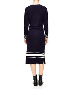 Sandro - Bryone Stripe Sweater Midi Dress
