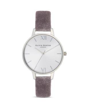 Olivia Burton Sunray Dial Velvet Watch, 34mm