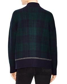 Sandro - Patience Embellished Tartan Zip Sweater