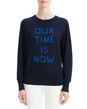 Theory - Silk & Cashmere Intarsia Sweater