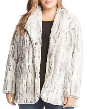 Karen Kane Plus - Faux-Fur Coat