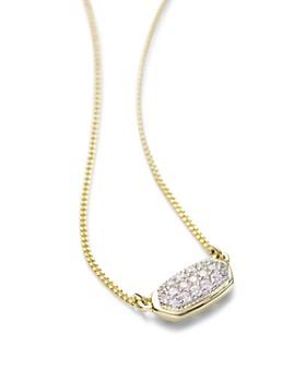 "Kendra Scott - Lisa Diamond Necklace in 14K Yellow Gold, 14K Rose Gold or 14K White Gold, 15"""