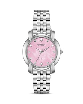 Citizen - Jolie Diamond Eco-Drive Pink Mother-of-Pearl Watch, 30mm