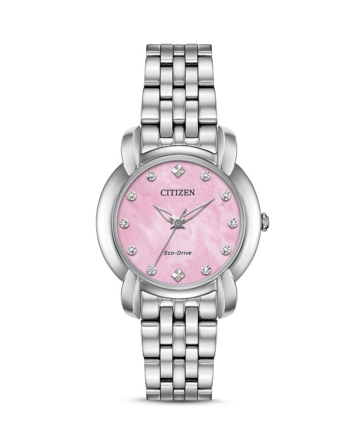Citizen JOLIE DIAMOND ECO-DRIVE PINK MOTHER-OF-PEARL WATCH, 30MM