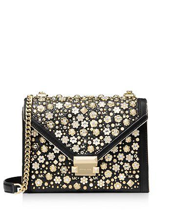 03b7cc31d17f MICHAEL Michael Kors - Whitney Crystal Studded Floral Convertible Shoulder  Bag