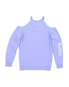 Butter - Girls' Good Vibes Cold Shoulder Sweatshirt - Big Kid