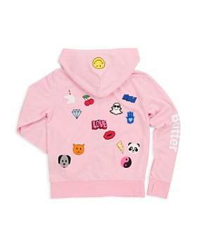 Butter - Girls' Sticker Graphic Hoodie - Big Kid