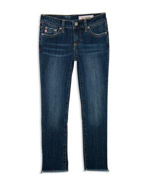 ag Adriano Goldschmied Kids Girls' Izzy Crop Embellished Jeans - Big Kid
