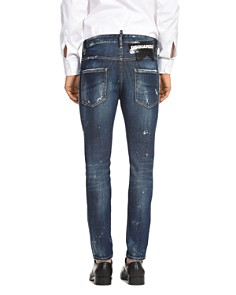 DSQUARED2 - Distressed Skater Straight Slim Jeans in Perfection