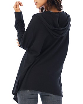 ALTERNATIVE - Open-Front Hooded Cardigan