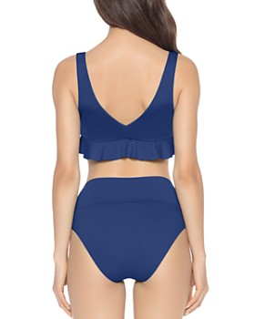 ISABELLA ROSE - Double Take Ruffled Bralette Bikini Top & Double Take High-Waist Bikini Bottom