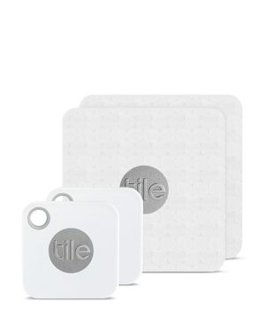 TILE Slim Combo Trackers, 4-Pack in White