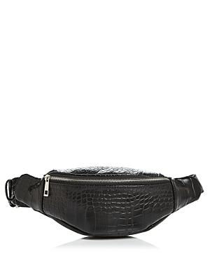 Aqua Croc-Embossed Belt Bag - 100% Exclusive In Black Croc Silver ... 376d2b596a