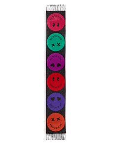 Burberry - Girls' Smiley Face Metallic Knit Scarf
