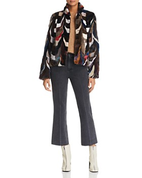Maximilian Furs - Multicolored Saga Mink Jacket