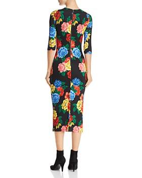Alice and Olivia - Delora Floral Print Midi Dress