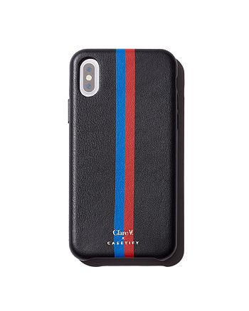 Clare V. - x Casetify Striped Leather iPhone X Case