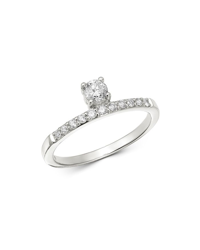 Bloomingdale's - Diamond Solitaire Band in 14K White Gold, 0.35 ct. t.w. - 100% Exclusive