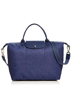 Longchamp - Le Pliage Jeans Medium Tote with Strap