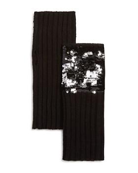 AQUA - Sequined Fingerless Gloves - 100% Exclusive