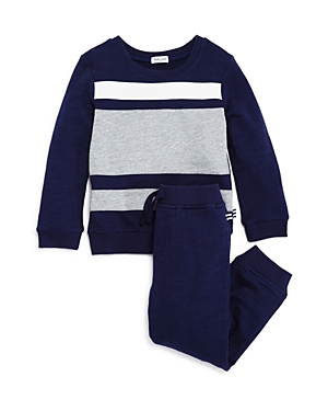Splendid Boys' Terry Color-Block Sweatshirt & Jogger Pants Set - Little Kid