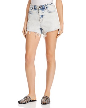T by Alexander Wang - Bite Denim Shorts in Marbled Bleach