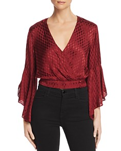Band of Gypsies - Rene Faux-Wrap Cropped Top