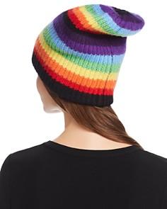 Madeleine Thompson - Rainbow-Stripe Cashmere Hat