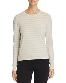 Majestic Sweater Metallic Long Striped Filatures Sleeve SwAqSCg