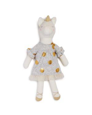 Albetta Velvet Unicorn Doll - Ages 0+