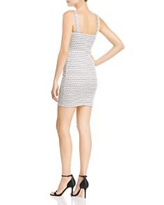 AQUA - Metallic Geometric Mini Dress - 100% Exclusive