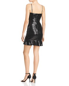 AQUA - Sequined Flounced Mini Dress - 100% Exclusive