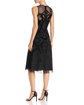 BCBGMAXAZRIA - Velvet Appliquéd Dress
