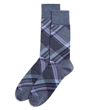 The Men's Store at Bloomingdale's - Diagonal Plaid Socks - 100% Exclusive