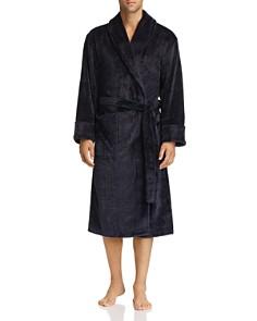 Daniel Buchler - Debossed Plaid Plush Robe