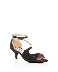STEVE MADDEN - Girls' JNghtout Ankle Strap Kitten-Heel Sandals - Little Kid, Big Kid
