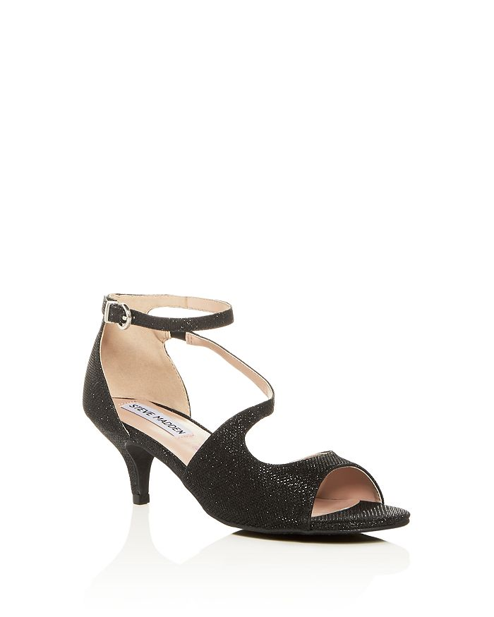 09a9b23cc9 STEVE MADDEN - Girls' JNghtout Ankle Strap Kitten-Heel Sandals - Little Kid,